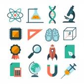 Set of modern science icons — Stock Vector