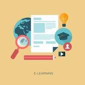 E-learning — ストックベクタ
