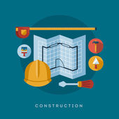 Construction icons and symbols — Stock Vector