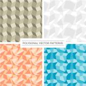 Set of four polygonal pattern backgrounds — Stock Vector