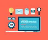 Programming concept illustration — Stok Vektör
