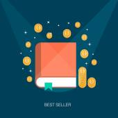 Concept of a best selling book — Stock Vector