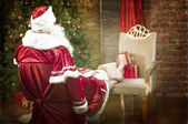 Santa Claus resting — Stock Photo