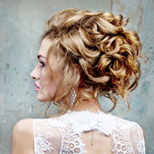 Girl with beautiful hair in profile — Stock Photo