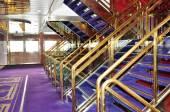 An internal staircase cruise ship — Stock Photo