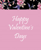 Valentine's Day greeting card — Stock Photo