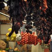 Barcelona, Spain, June 7, 2013 - Fruit at the Boqueria market in — Stock Photo