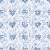 Amor de patrones sin fisuras — Vector de stock