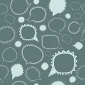 Pattern with speech bubbles — Stock Vector