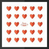 Love greeting card, flat style — Vettoriale Stock