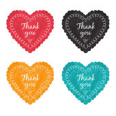 Thank you label set — Stock Vector