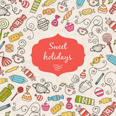 Greeting card Sweet holidays — Stock Vector