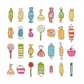 Sweet collection — Stock Vector