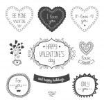 День Святого Валентина элементы — Cтоковый вектор #53630683