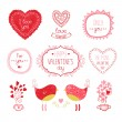 Valentine elements for design — Stock Vector #53630703