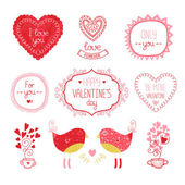 Valentine elements for design — Stock Vector