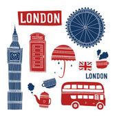 Vector London symbols — Cтоковый вектор