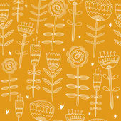 Flower yellow background — Stock Vector