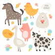 Farm animals collection — Stock Vector #57130035
