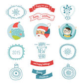 Decorative christmas vector elements — Stock vektor