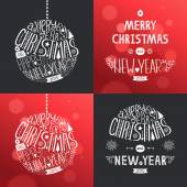 Vector christmas greeting card set — Stock Vector