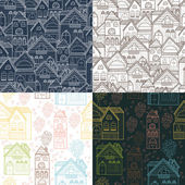 Home background set — Stock Vector