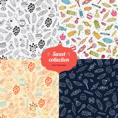 Love candy background set — Stock Vector