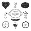 Vintage love labels — Stock Vector #60737665