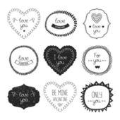 Vintage love labels — Stock Vector
