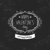 Vintage love card Happy valentines day — Stock Vector