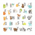 Cute vector zoo alphabet — Stock Vector #62314017