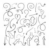 Vector hand drawn arrows — Stock Vector