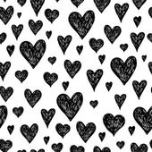 Vector ink background with hearts — Stockvector