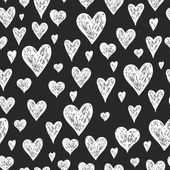 Vector ink pen background with hearts — Stock Vector