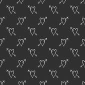 Vector hjärtat bakgrund, kärlek och pilar — Stockvektor