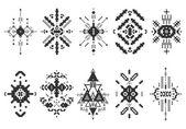 Элементы вектора синхронизации племенных, этнических коллекции — Cтоковый вектор