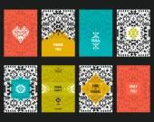 Vector geometric card templates — Stock Vector