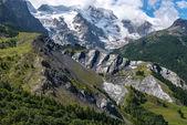 Meije glacier near la Grave (France) — Stock Photo