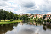 Allier river in Pont-du-Chateau (France) — Stock Photo
