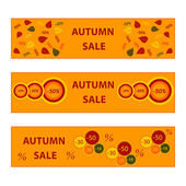 autumn banners sale collection  — Stock Vector