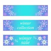 Vintern banners — Stockvektor