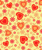 valentine's day seamless, pattern — Stock vektor