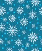 Pattern with snowflakes — Stock Vector