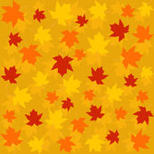 Pattern,seamless of  autumn leaves — Stock Vector