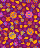 Seamless, pattern  paisley flowes — Stock Vector