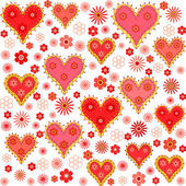 Valentine's day seamless, pattern — Stock Vector