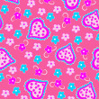valentine's day seamless, pattern — Stock Vector #56601809