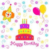 Birthday card. — Stock Vector
