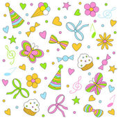 Birthday,party seamless,pattern — Stock Vector