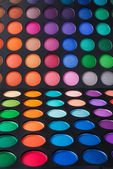 Palette of colorful eye shadow — Stock Photo